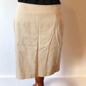 Shiny tan skirt